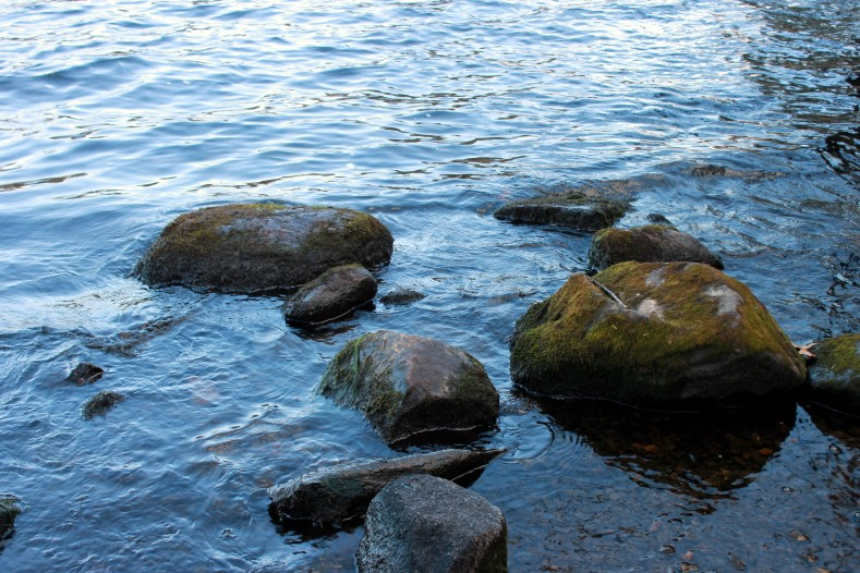 rocks in the water / rejoicing hills